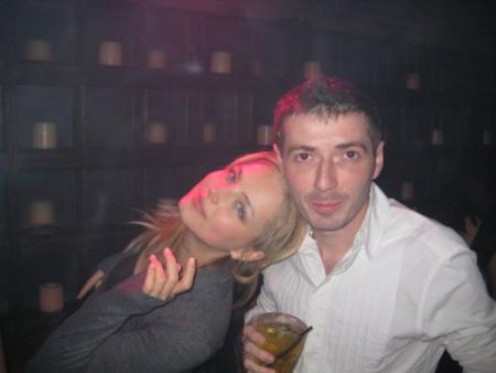 Ruslana Korshunova with her boyfriend Mark Kaminsky