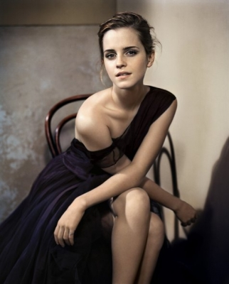 Emma Watson wallpaper possibly with a cocktail dress and a dinner dress called SET 002 - GLAMOUR UK (BY VINCENT PETERS)