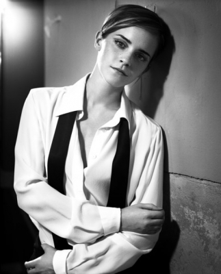 Emma Watson Hintergrund possibly with a business suit titled SET 002 - GLAMOUR UK (BY VINCENT PETERS)