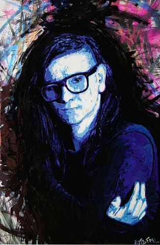SKRILLEX's portraits sa pamamagitan ng FREDERIC MICHEL-LANGLET