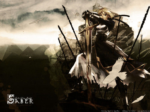 haremaster99 wallpaper possibly with a sign entitled Saber