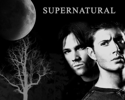 Supernatural wallpaper possibly containing a sign titled Sam & Dean