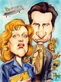 Scully and Mulder caricature