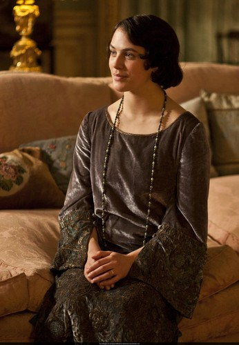 Downton Abbey hình nền probably with a cốc-tai, cocktail dress, a blouse, and a chemise called Season 3