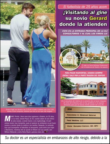 Shakira, Pique visited the gynecologist to monitor pregnancy