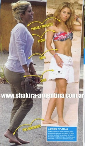 शकीरा pregnant body