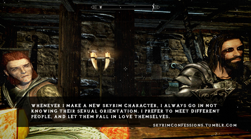 Elder Scrolls V : Skyrim wallpaper possibly containing anime titled Skyrim Confessions