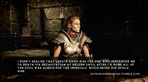 Elder Scrolls V : Skyrim wallpaper possibly containing a breastplate entitled Skyrim Confessions