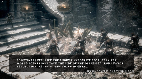 Elder Scrolls V : Skyrim wallpaper probably with a sign titled Skyrim Confessions