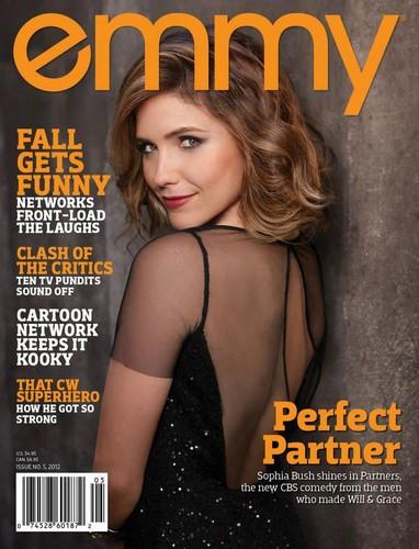 Sophia arbusto, bush covers EMMY magazine