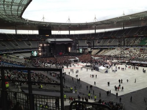 Stade de France getting ready for Gaga