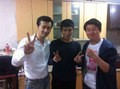 T.O.P with 'Alumni' actors Kwak Min Suk and Kim Min Jae 21092012