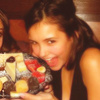 Cleo ♥ photo possibly with a frosted layer cake called TVD icons to my angel <3
