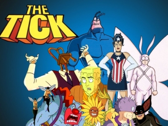 The 90s wallpaper with anime titled The Tick Crew