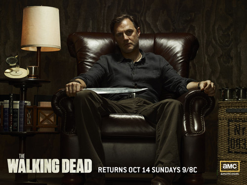 The Walking Dead پیپر وال probably with a living room and a family room entitled The Governor