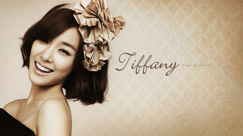 Tiffany Hwang wallpaper with a bouquet and a portrait entitled Tiffany
