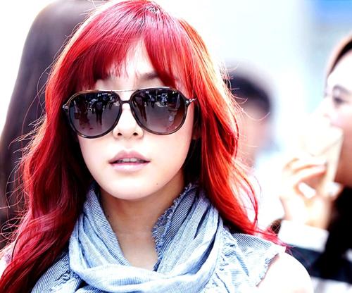 Tiffany Hwang Red Hair