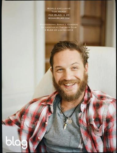 Tom Hardy Blag Magazine Cover
