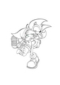 Lineart _ Toon &quot;Link&quot; Cartoon &amp; Sonic - super-smash-bros-brawl fan art
