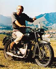 Steve McQueen wallpaper probably with a trail bike called Triumps Bonneville