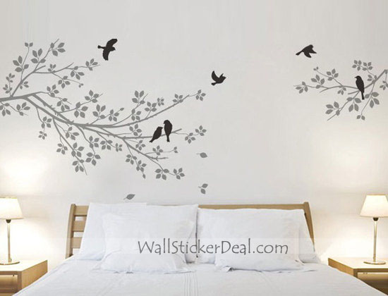 Two Branches with Birds Wall Stickers - Home Decorating ...