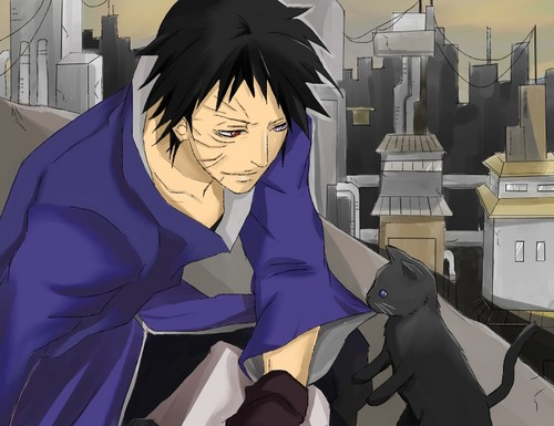 Uchiha Obito and Neko