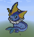 Vaporeon. - minecraft-pixel-art fan art