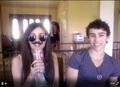 Victoria, Max, mustache straw, sunglasses