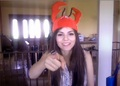 Victoria Justice lobster hat