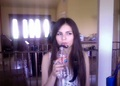 Victoria Justice mustache straw - victorious photo