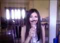 Victoria Justice mustache straw2 - victorious photo