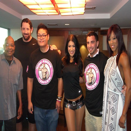 Wade Barrett,Teddy Long,Rosa,and Alicia fuchs with Fans