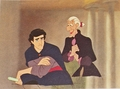 Walt Дисней Production Cels - Prince Eric & Sir Grimsby