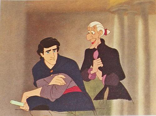 Walt Disney Production Cels - Prince Eric & Sir Grimsby