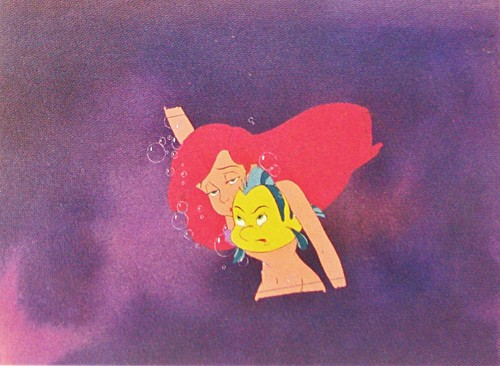 Walt disney Production Cels - Princess Ariel & platija