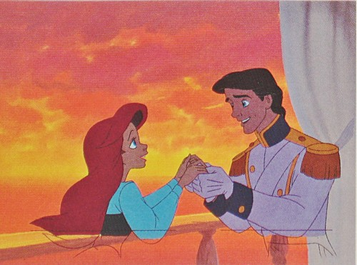 Walt डिज़्नी Production Cels - Princess Ariel & Prince Eric