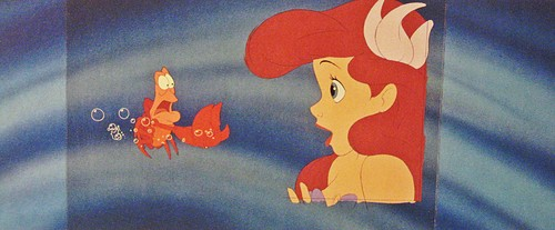 Walt Дисней Production Cels - Sebastian & Princess Ariel