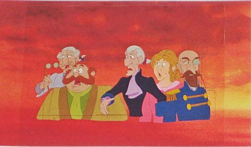 Walt Disney Production Cels - The Wedding Guests & Sir Girmsby