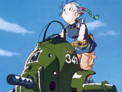 Young Bulma's driving (DBGT Ending Screenshot)