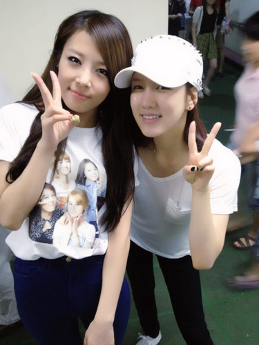 Yubin and Jiwon