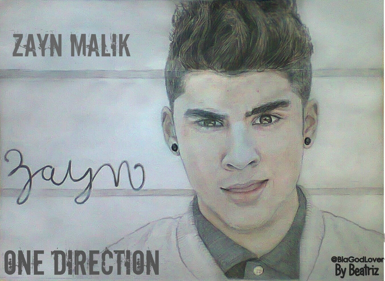 One Direction Fanfics Images Zayn Malik Drawing Hd Wallpaper And