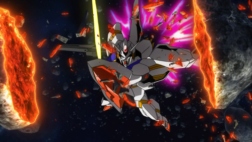 Slicing Asteroids with Gundam Legilis is Fun