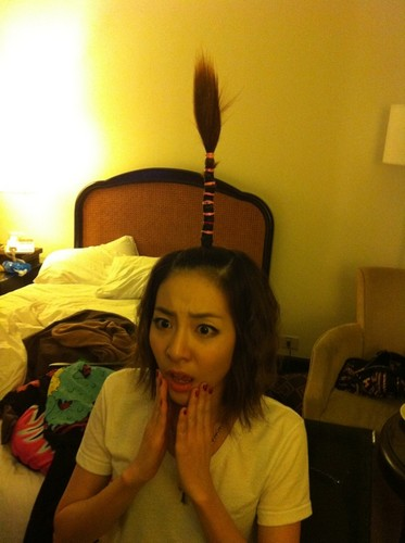 dara 2ne1 maçã, apple árvore hair