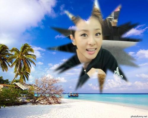 dara 2ne1 beach scenery