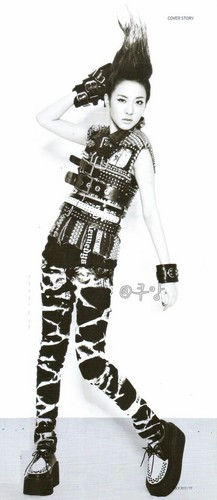 dara 2NE1 funky Giappone style