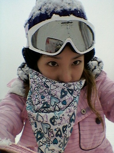dara 2ne1 skiing