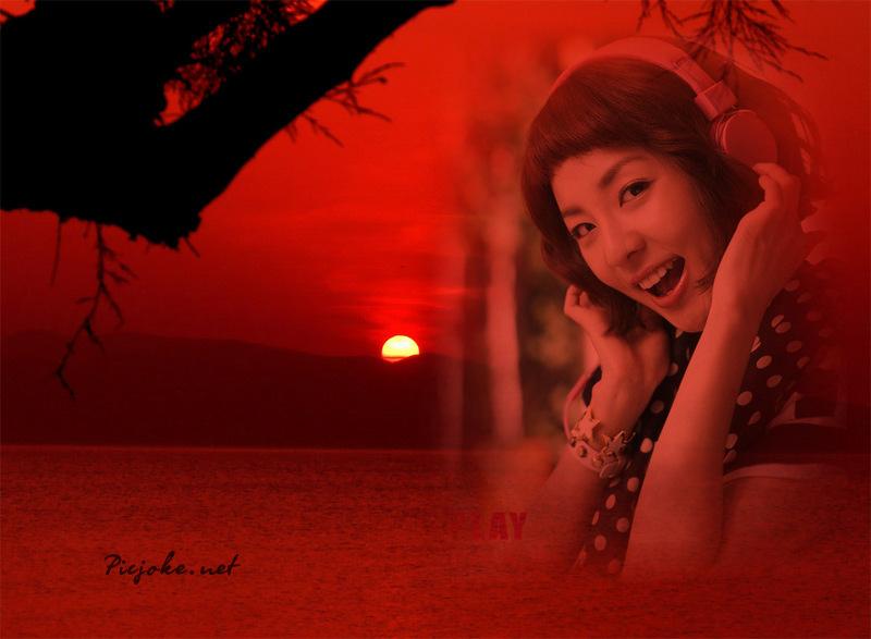 dara 2NE1 sunset