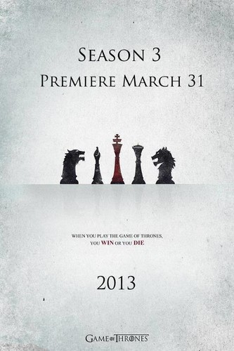 Game of Thrones wallpaper possibly containing anime titled Game of Thrones- Season 3- Poster