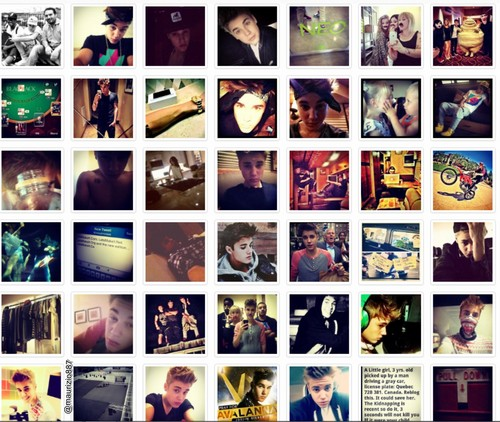 justin bieber, all instagram, 2012
