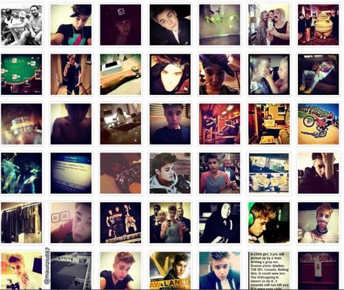 justin bieber, all instagram, 2012